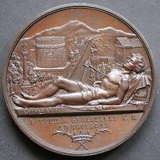 MEDAGLIONE CONFRATERNITA MISERICORDIA S.SEBASTIANO FIRENZE CANONICO 1871 PIERONI