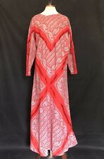 VTG 70s Caftan India bell sleeve Cotton dress Gypsy Spell Hippie rare Paisley