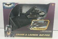 NEW 2008 Batman Dark Knight Crank & Launch Bat-Pod with Batman Figure