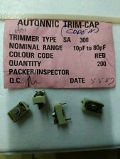 CAPACITOR VARIABLE CERAMIC/TRIMMER  10 / 80pF Nos   Lot de 4 pieces   (DepC12H4)