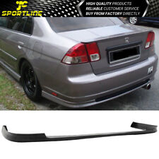 Fits 01 02 03 Honda Civic Sedan 4DR PP Black Rear Bumper Lip Bodykit T-R Style