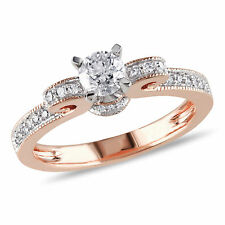 Amour 1/2 CT TW Diamond Engagement Ring in 14k Rose Gold