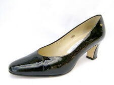 "Women's 6½M Pumps Black Patent Leather 2½"" High Heels Etienne Aigner Very Good"