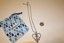 """Brighton Silver Anchored in Love Necklace $52.00 With Bag NWT NEW 16""""-18"""" Anchor"""