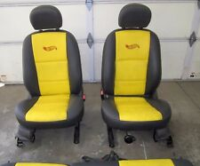2-BUCKET SEATS & REAR SEAT BACKS, leather, Hot Wheels design, '00 Ford Focus ZX3