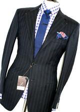 BNWT De Lujo Para Hombre Ermenegildo Zegna Azul Marino chalkstripe clásico traje 38R W32