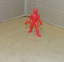 Vintage Thomas toys Spaceman with Ax and Ray Gun in red plastic