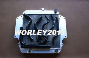Aluminum radiator + Black hose for SUZUKI SIERRA 1.0 1.3 SJ410 SJ413