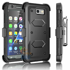 For Samsung Galaxy J3 Emerge Clip Holster Case Cover W/Built-in Screen Protector