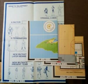 Uncanny X-men Special Campiagn Set 6896 3 Maps & Genetic Blueprint Poster only