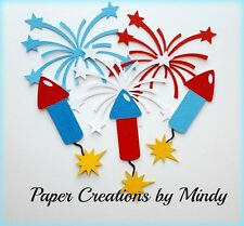 CRAFTECAFE MINDY 4TH FOURTH JULY FIREWORKS  premade paper piecing scrapbook