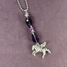 PEGASUS CAR CHARM Suncatcher Rearview Mirror Dangler Winged Horse Totem Amulet