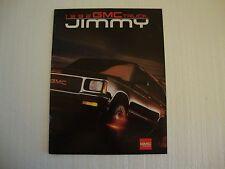 1992 GMC Jimmy S15 Sales Brochure