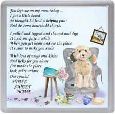"Cockapoo Dog Coaster ""HOME SWEET HOME Poem ..."" Novelty Gift by Starprint"