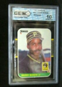 Barry Bonds RC 1987 Donruss Rookie Card#361 GEM10!Pirates LF RC HOF GOAT