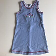 Girls Blue Knit cotton American Flag 4th July dress by Chez Ami size 6x