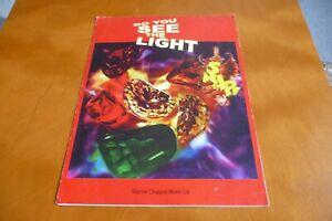 SNAP DO YOU SEE THE LIGHT ORIGINAL UK 1993 SHEET MUSIC