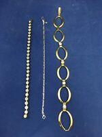 Set of 3 Vintage Bracelets Costume Jewelry Avon Rinc SP Lind Rhinestones