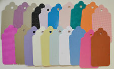 20 Large Scolloped Tags Embellishments in Pearl Card 113mm x 58mm New