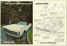 1969 automobile ad, 'NEW 1970 CHRYSLER 300', photo and cut-away -102812