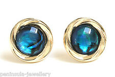 9ct Gold Abalone (Paua Shell) Stud earrings Gift Boxed