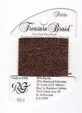 Rainbow Gallery Treasure Braid Petite PB14 Bronze