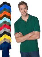 Hanes G135 Mens Plain 100% Cotton Top Polo Sports Golf Shirt No Logo