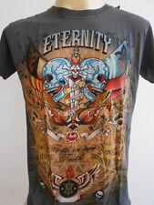 Emperor Eternity Glittering Twin Skull Dagger Tattoo Men T shirt Gray M
