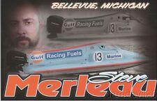 2016 Steve Merleau Gulf Racing Fuels Powerboat Nationals APBA postcard