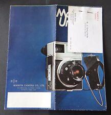Catalogue appareil photo MAMIYA camera universal catalog Katalog