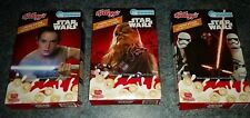 Star Wars & Disney Kelloggs FULL SET of 3 empty limited edition cereal boxes