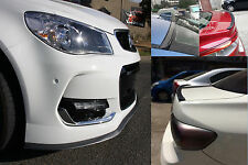 Holden Commodore Carbon Fiber Look Front Bumper Lip & Rear Boot Spoiler Wing Lip