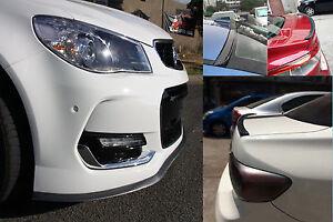 CarbonFiberLook Front Bumper Lip & Rear Boot Spoiler Lip for Holden Commodore