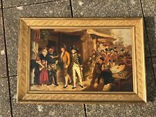 Bound for Trafalgar's Bay Admiral Nelson leaving Portsmouth  oil canvas painting