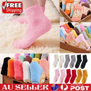 6/12pc Extremely Cozy Socks Women Men Winter Warm Sleep Bed Floor Home Fluffy AU