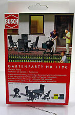 Busch 1190 Bausatz Gartenmöbel und Grill Gartenparty Scale 1 87 NEU OVP