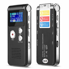 Digital Voice Recorder (8GB) w/ Built-in Microphone Speaker, Audio MP3 Player XV