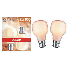 Osram 100W 240V BC/B22 softone BELLALUX mandarine t-shape (twin pack)