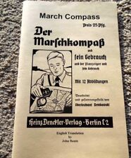 German Ww2 March Compass Manual English Translation