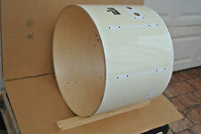 "1980s PEARL 22"" EXPORT BASS DRUM SHELL in WHITE for YOUR DRUM SET! #V839"
