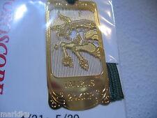 Horoscope Taurus Bull Zodiac 24K Gold plated metal Bookmark book mark Made JAPAN