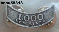 HARLEY OWNERS GROUP HOG H.O.G. 1,000 MILEAGE MILE VEST JACKET HAT PIN