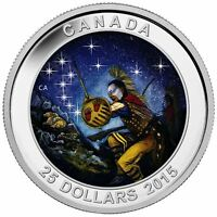 2015 $25 1oz .9999% Pure Fine Silver Coin THE WOUNDED BEAR - Glow In The Dark