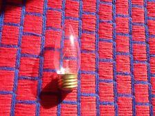 Box of 4} CLEAR FLAME chandelier light BULB Teardrop 25 watt  torpedo medium 25w