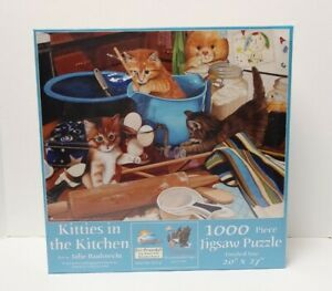 Kitties In The Kitchen 1000 pc Jigsaw Puzzle by SunsOut New Sealed