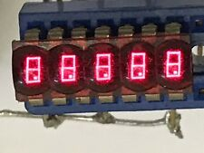 VINTAGE ORIGINAL HP 5 DIGIT BUBBLE RED LED RETRO DISPLAY 5082-7405      fbb15a25