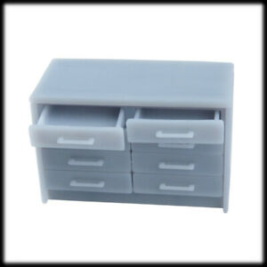 1x 3D printed OFFICE DRAWER UNIT 1:43 scale, O gauge, 7mm Interior Furniture Sce