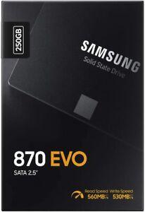 """HARD DISK STATO SOLIDO SSD Samsung 870 EVO 250GB SATA 3 2,5"""""""
