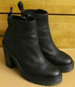 Dr Martens Magdalena, Ladies Zipper Black Shoes, Size UK 7, EU 41