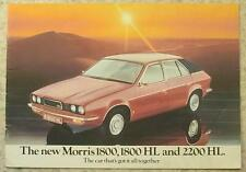 MORRIS 1800, 1800HL & 2200HL Car Sales Brochure Jan 1975 #3106